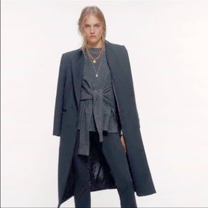 Zara Front Tie Heather Gray Sweater (S)